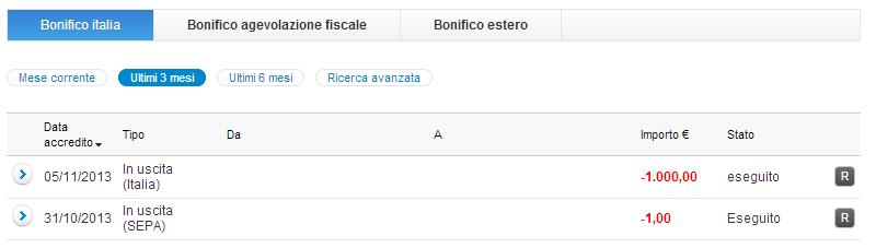 Archivio bonifici for Detrazione fiscale condizionatori causale bonifico