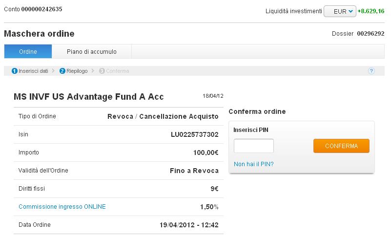 Ordine in un fondo for Bonifico ristrutturazione