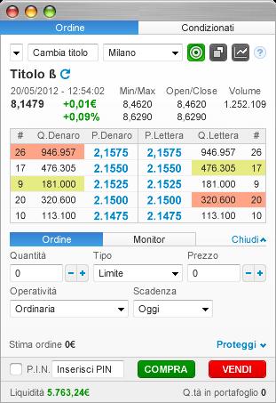 Trading system automatico fineco